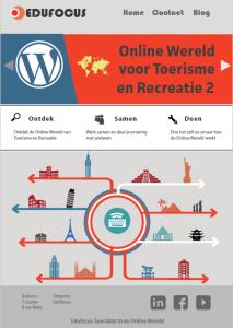 Onlien wereld voor toerisme en recreatie. ROC- MBO website bouwen wordpress