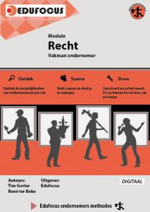 Vakman ondernemer Module Recht ROC MBO